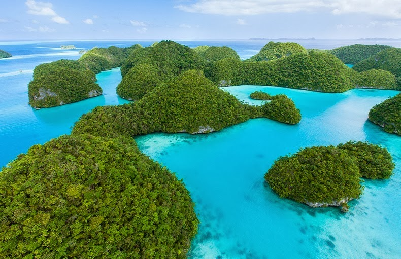 Islands of Palau is an archipelago of 250 islands striking tropical paradise situated in western Pacific Ocean factual unspoiled destination.