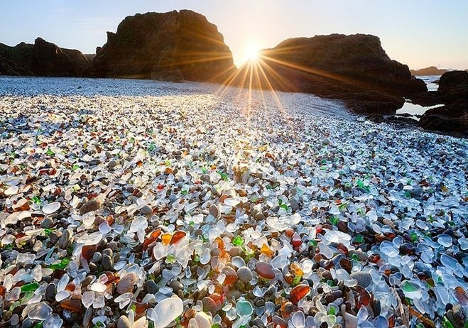 bdfdead775a4 Glass Beach situated near Fort Bragg in Northern California used to be the  place where locals