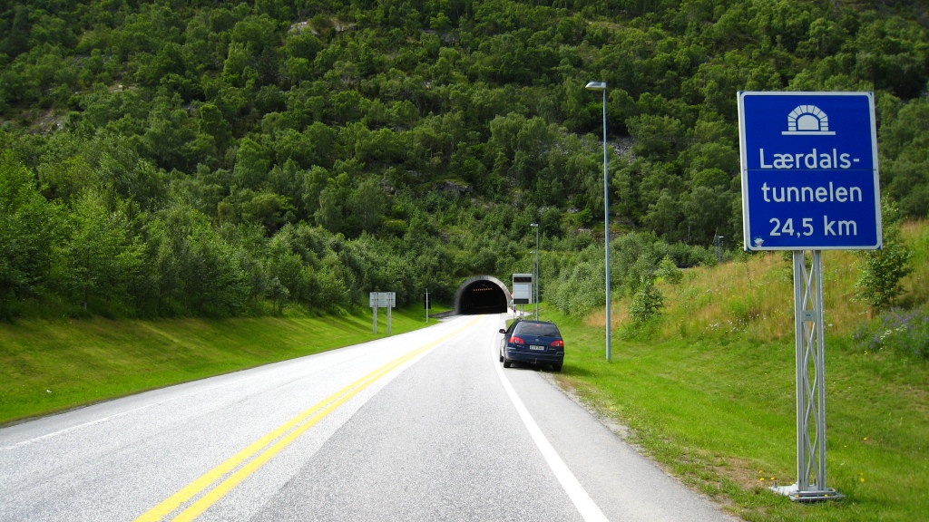 In 1992, government decided to build the Laerdal Tunnel realized that reliable all-weather snow-free, fjord-free land connection needed between two cities.
