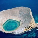 Blue Lagoon Galapagos Islands in Ecuador