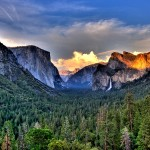 The Majestic Natural Beauty of Yosemite Valley in Western Sierra Nevada Mountains of California