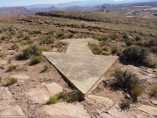 The Bloomnigton arrow was one of 102 found by retired couple Brian and Charlotte Smith, who have travelled across the US to photograph the monuments
