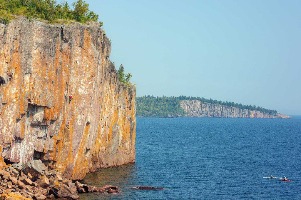 Palisade Head Cliffs is a large rock formation on North Shore of Lake Superior in the Minnesota located at milepost 57 Minnesota State Highway