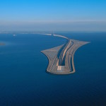 Five-Mile-Long Oresund Bridge Transitions into a Tunnel That Unites Denmark with Sweden