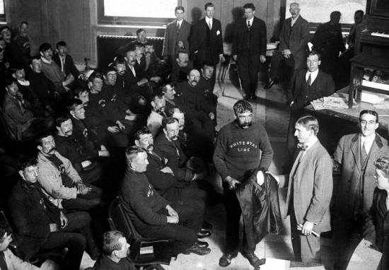 Surviving crew members of the Titanic, New York, 1912