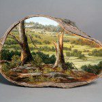 Gorgeous Paintings on Fallen Tree Logs Mirror Their Natural Origins