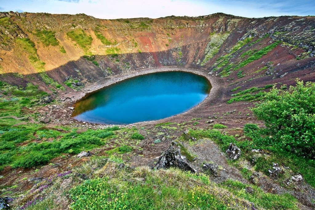 Kerio Crater is a volcanic crater lake located in Grimsnes area in South Iceland. Also known as Kerith or Kerid, popular tourist attraction.