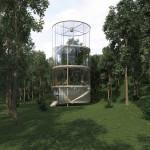 Amazing Tubular Glass House Built Around Tree