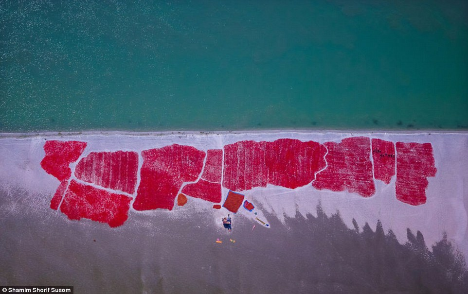 Susom calls this photo 'Chilliland'. He said his aerial photography allows him to reconnect with his roots in Bangladesh