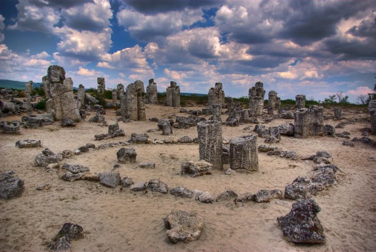 In Sofia amazing natural area Pobiti Kamani Stone Forest looks like the ruins of an ancient temple, but these broken stone pillars are all natural.