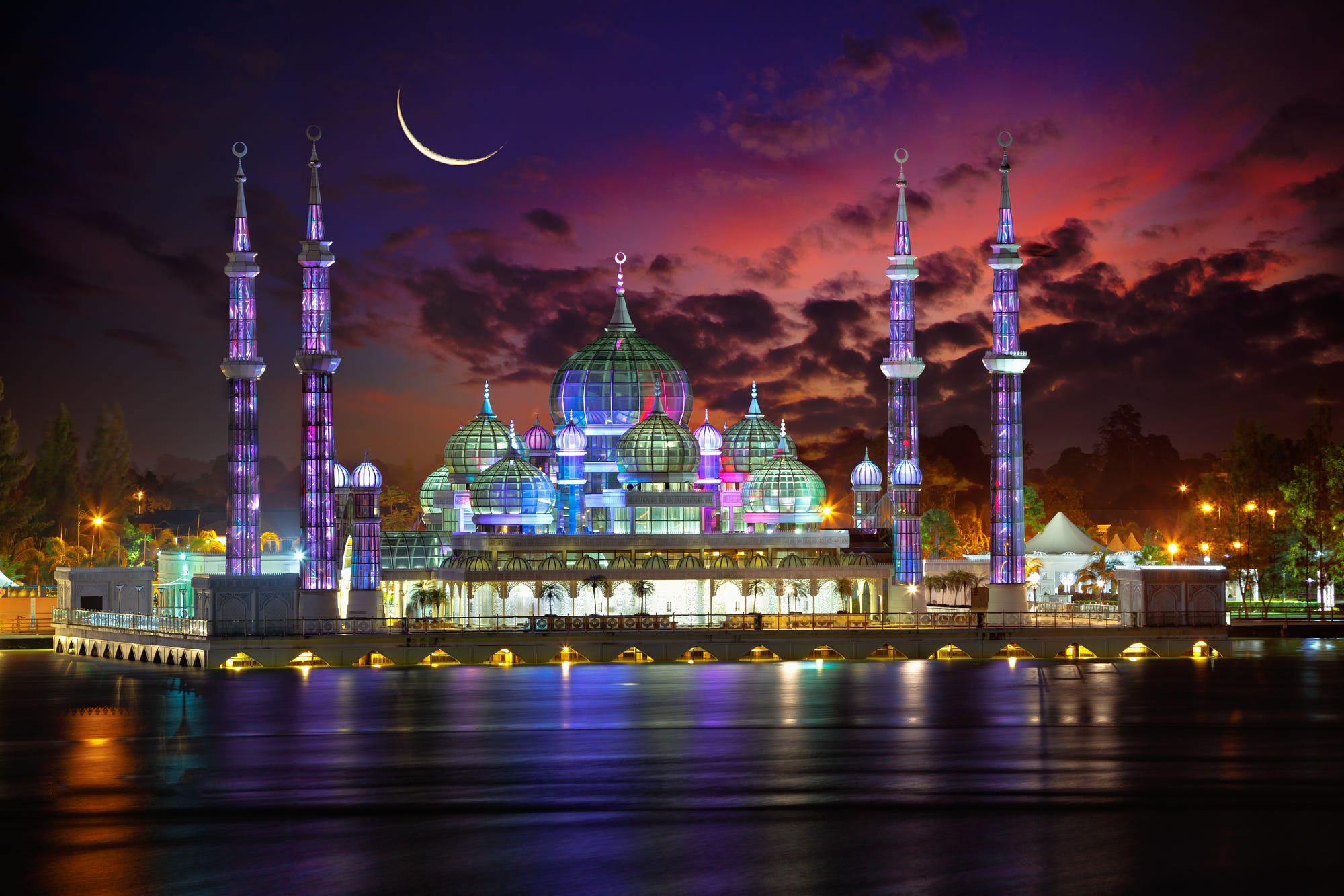 Image result for crystal mosque""