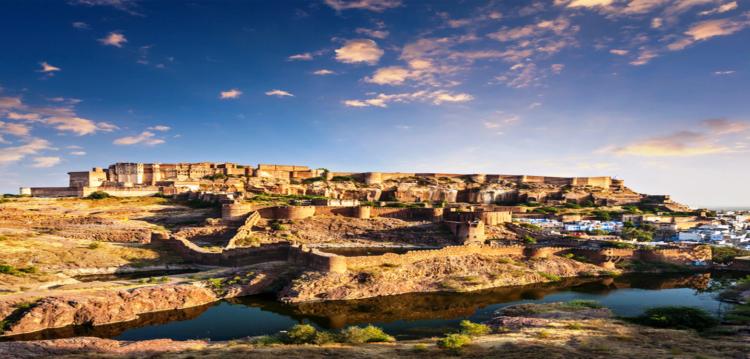 "Mehrangarh Fort is also known as ""Mehran Fort"" located in Jodhpur, Rajasthan."