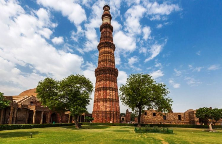 The Qutub Minar is a minaret which laid the foundation by Qutub ud Din Aibek around in 1192, however his son in law Shams ud din Iltutmish finish the Minar in 1220.