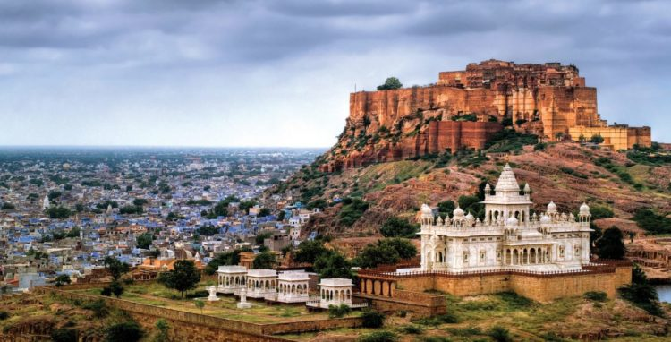 The fort rising perpendicular and impregnable from a rocky hill that itself one of the most magnificent forts in India.