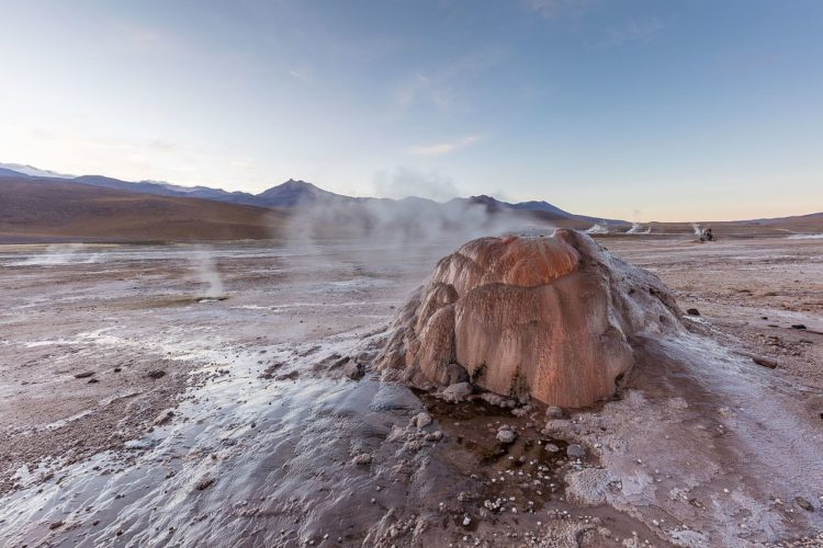 El Tatio is also third largest geyser field in the world, (after Yellowstone in the U.S. and the Valley of Geysers on the Kamchatka Peninsula in Russia) covers an area of 12 square miles seeping steam across its surreal expanse.
