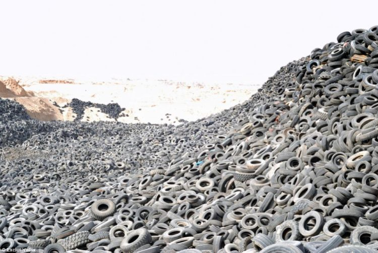Even though the European landfill directive means that this type of 'waste disposal would be illegal in Europe - since 2006 EU rules have banned the disposal of tyres in landfill sites
