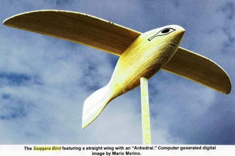 "Saqqara Bird"" is a small wooden replica of an actual ancient Egyptian flying machine?"