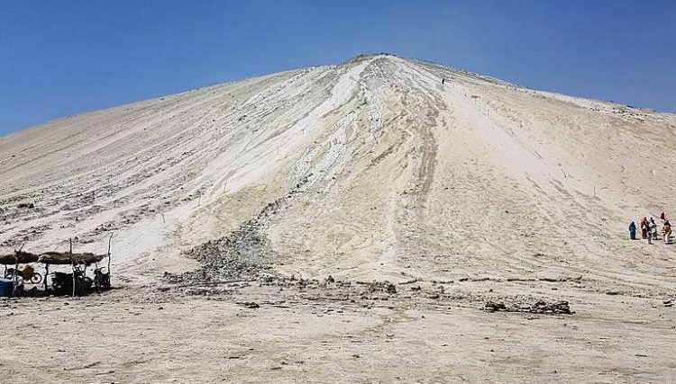 The Chandragup Mud Volcano height is between 800 to 1500 feet.