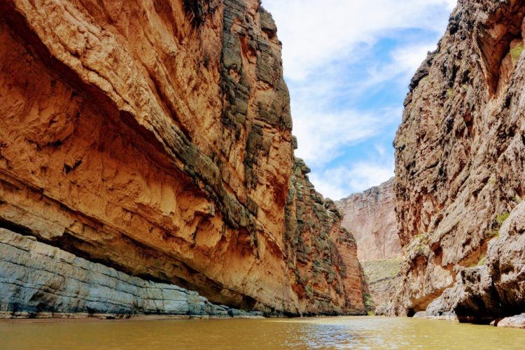 The lovely Santa Elena Canyon is most inspiring natural feature in Big Bend National Park.
