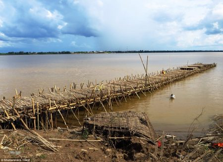Due to fear of flood in rainy season starting May till November, the locals dismantle the Bamboo Bridge and store all of bamboos.