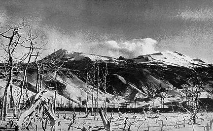 Photo of Mount Katmai by R.F. Griggs of the 1915 and 1916 expedition.