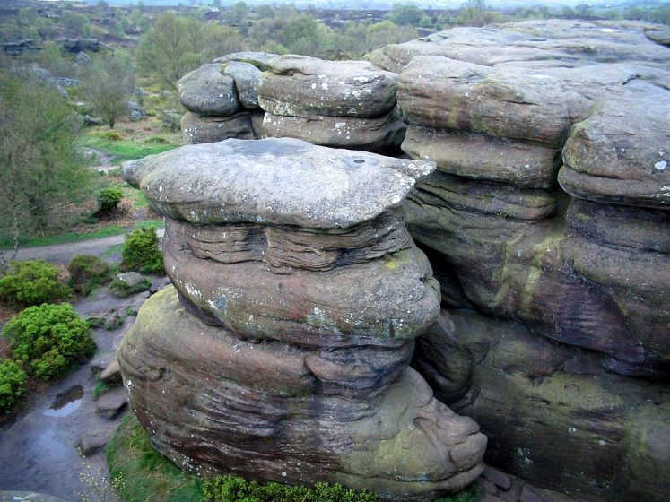 Brimham Rocks are collection of weird and wonderful balancing rock formations on Brimham Moor in North Yorkshire, England.