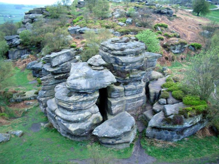 The rocks stand at a height of nearly 30 feet in an area owned by the National Trust.