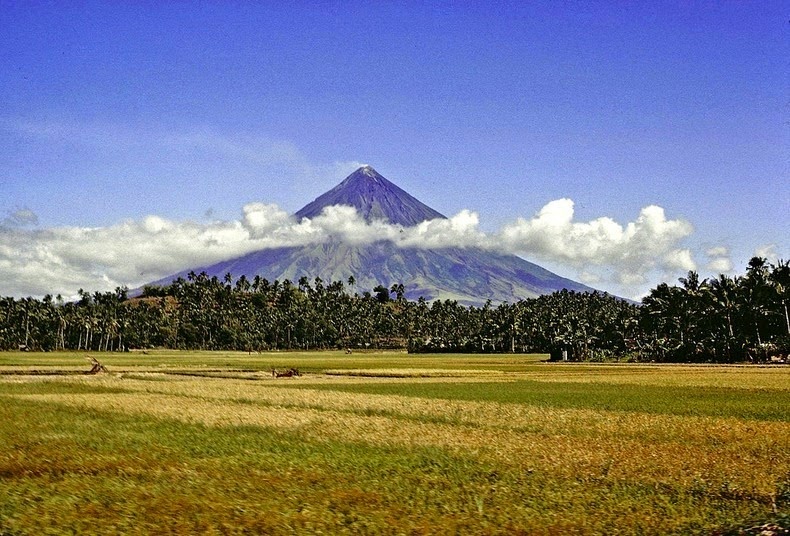 It was formed through layers of pyroclastic and lava flows from past eruptions and erosion. Mayon is a part of the Pacific Ring of Fire.