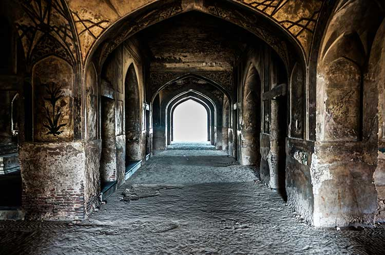 The Tomb of Nur Jahan is part of an ensemble of nearby monuments, including the Tomb of Jahangir, Akbari Sarai, as well as the tomb of Asif Khan.