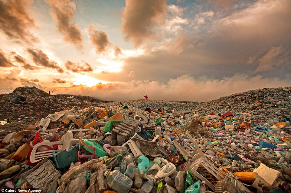 Thilafushi is an artificial island in the Maldives where about 400 tonnes of rubbish is dumped every day