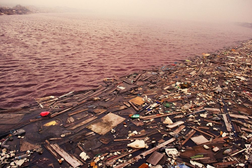 The landfill island is a sort of eerie, beautiful apocalyptic art piece. Instead of looking at this wasteland is really horrific.