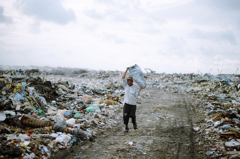 The Thilafushi, the location of Maldives's municipal landfill few miles west of Male is the capital of Maldives and most densely populated islands on earth.