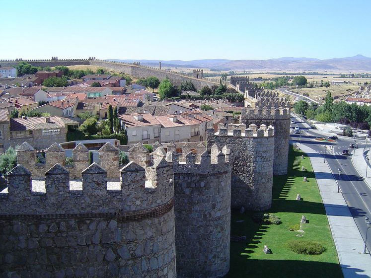 The ancient city of Avila is located in central Spain, in the autonomous community of Castile and León, about 100 km to the west of Madrid.