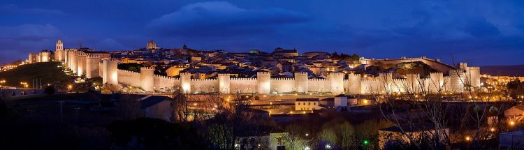 . The Walls of Avila is about 2,500-meter long and almost completely intact.