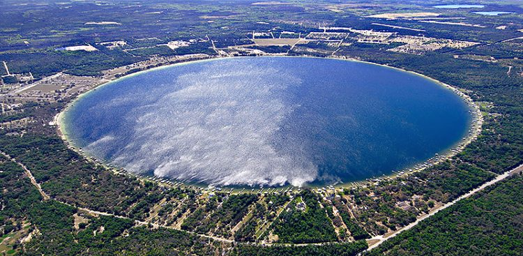 . It is located six miles east of Starke, in North Central Florida. It is believed that Kingsley Lake is formed as a sinkhole.