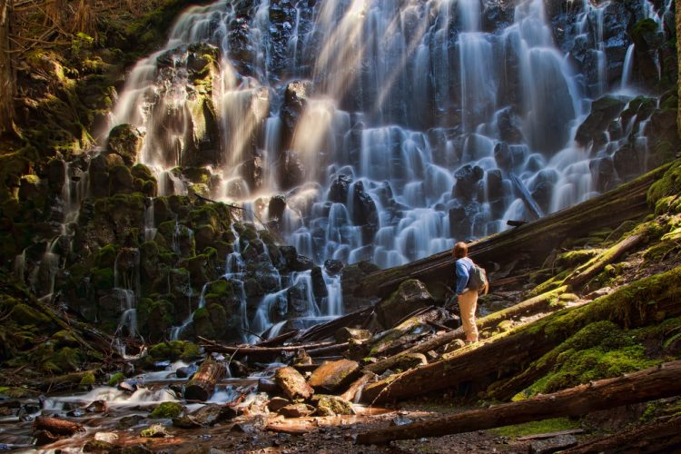 The hiking of Ramona Falls is most admirable destination for thrill seekers due to gradual elevation gain.