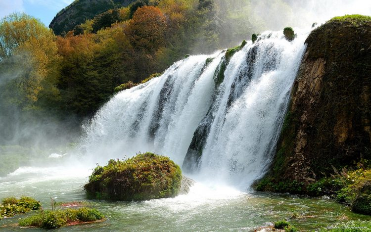 The Cascata delle Marmore total height is 165 m making it the tallest man-made waterfall in the world.