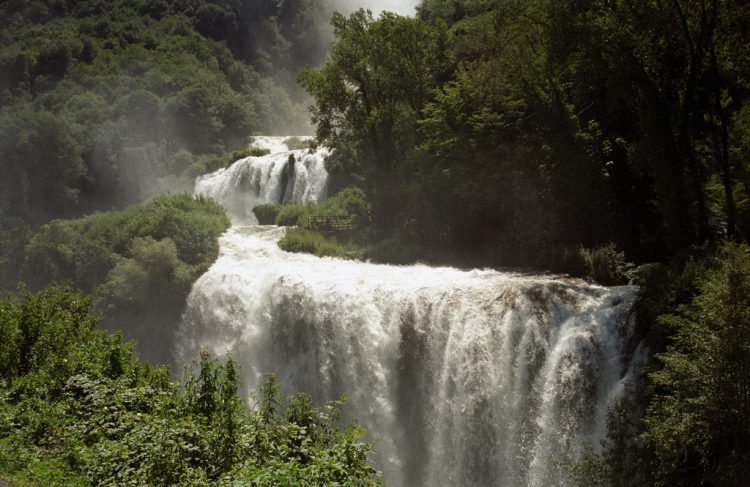 Marmore Falls' curiosity lies not merely in its splendor but also in the fact as 2,200 years ago, no waterfall exists here.