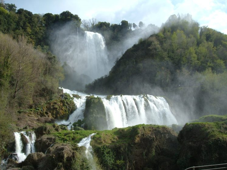 The Roman consul Manius Curius Dentatus gave a plan to construct a canal here. Later on it was named Curiano Trench, in 271 BC, to drain the swamps and direct the excess waters into the natural cliff at Marmore creating the falls