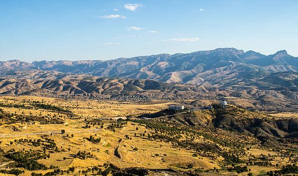 The mountain range, seen from Şırnak.