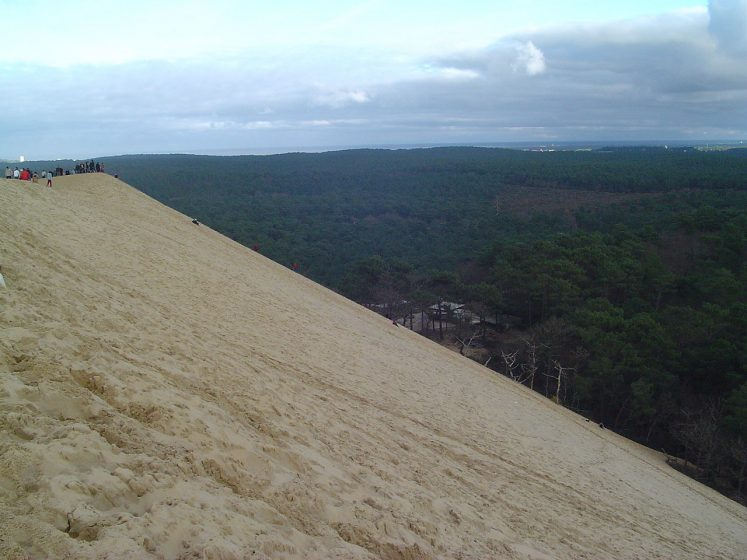 Europe's tallest sand dune nestled between the Atlantic Ocean, an enormous pine forest, the Arcachon Bay, a sandbank and a peninsula!