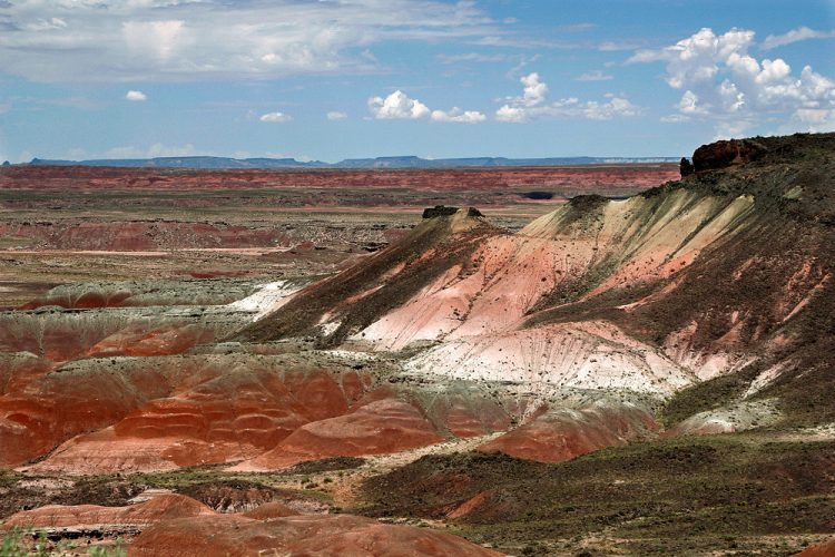 """Hence, passing through the wonderland of colors, they named the area El Desierto Pintado """"The Painted Desert""""."""