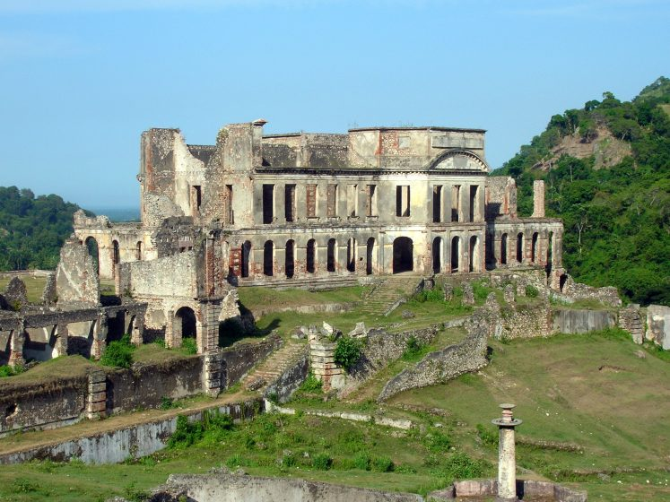 Sans Souci Palace was built only a few yards away or maybe even exactly over, the place where one of traitor himself was killed by Christophe.
