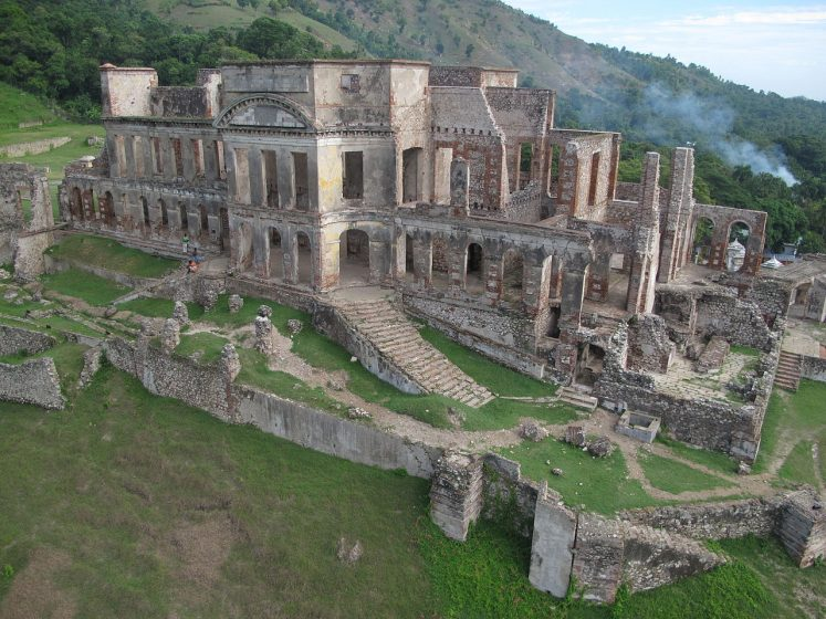 The Sans-Souci palace city of Milot has extended to the border of the site, and the required for natural resources, such as limestone and trees, are impacting the surrounding landscape.