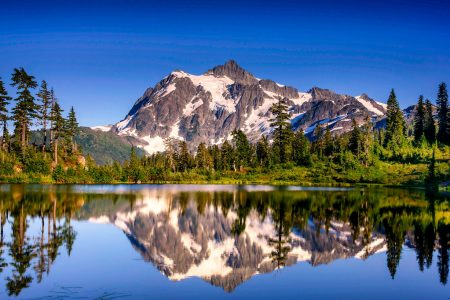 Mount Shuksan has no comparison in the range when one think the structural beauty of its four major faces and five ridges.