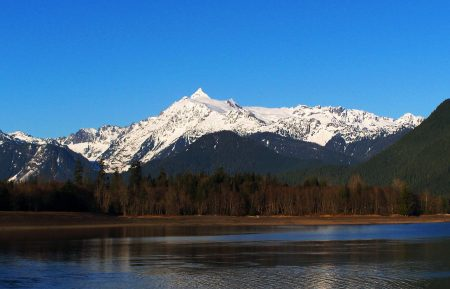 Mt Shuksan as seen from Baker Lake to the south