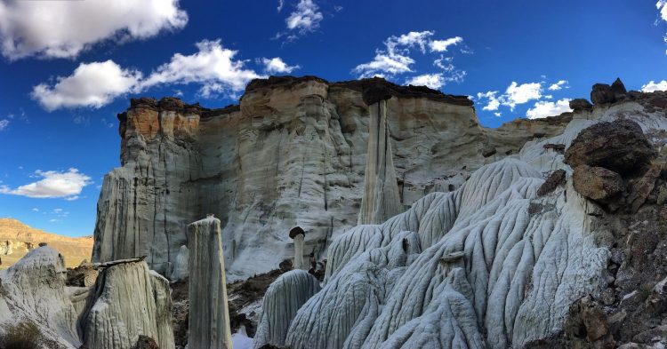 The trail usage may be low; a dilapidated Hanging Fence will be first of Wahweap Hoodoos.