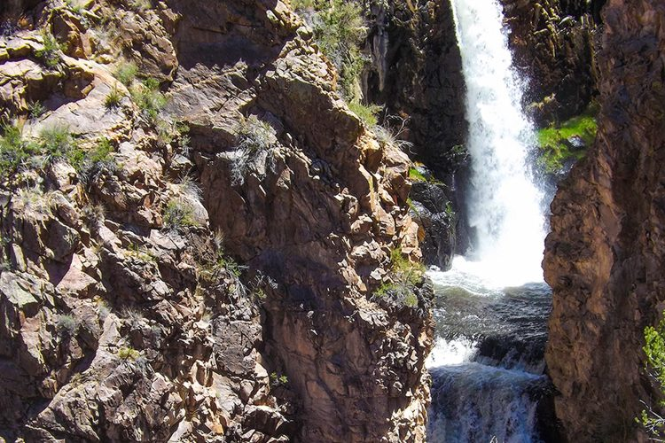 Nambe Falls also provide a chance to offset the desert heat in the seemingly reliably flowing rushing creek.