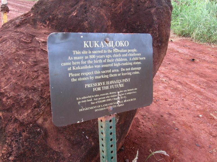 The site was first recognized, preserved and protected by the Daughters of Hawaii in 1925, care of Kukaniloko was passed to HCCW in 1960.