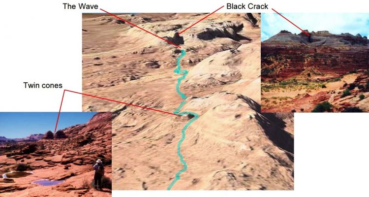 The area has dinosaur track way in this region densely packed more than 1,000 footprints roughly 200 million years ago.